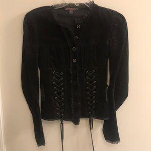 Betsey Johnson Black Corduroy Jacket